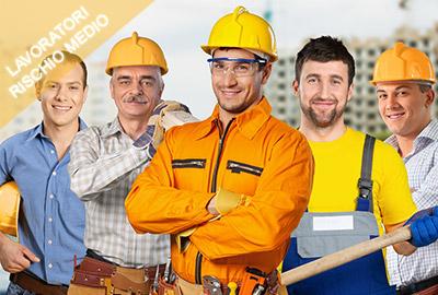 sicurezza lavoratori rischio medio