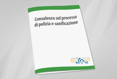 Consulenza sul processo di pulizia e sanificazione