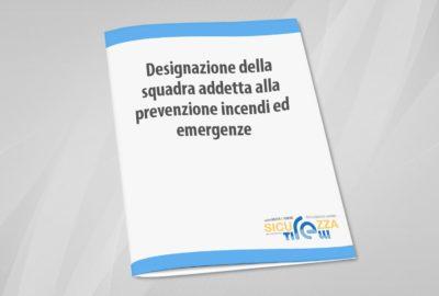 designazione squadra prevenzione incendi emergenze